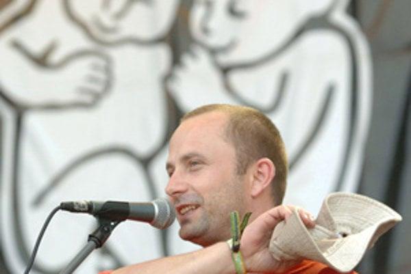Michal Kaščák počas 11. ročníka hudobného festivalu Bažant Pohoda na letisku v Trenčíne v júli 2007.