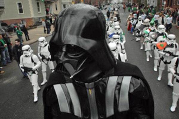 Darth Vader vedie regiment svojich Stormtrooperov (South Boston, Oslavy Dňa Sv. Patrika, 16. marca 2008)