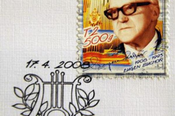 Slovenská pošta, a.s. slávnostne uviedla na trh 17. apríla 2008 v Bratislave známku, ktorá vychádza pri príležitosti 100. výročia narodenia hudobného skladateľa Eugena Suchoňa.