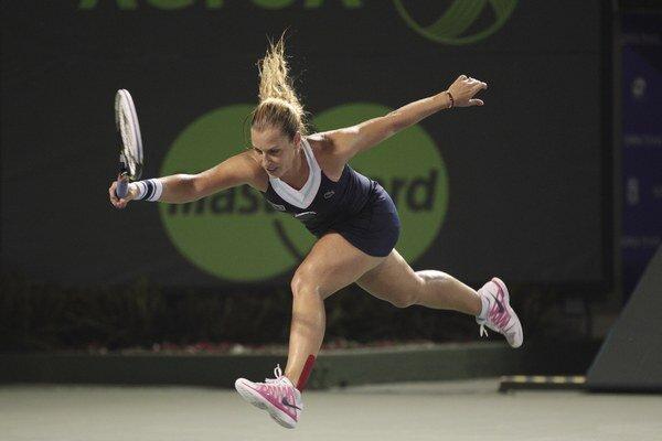 Zostala som veľmi silná, povedala Cibulková o zápase proti Venus.