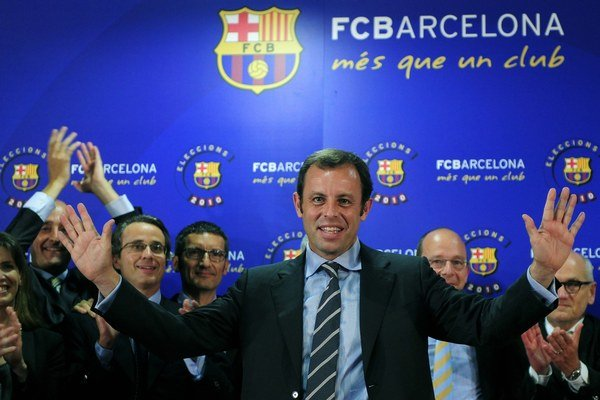 Rosell bol zvolený za prezidenta Barcelony v roku 2010.