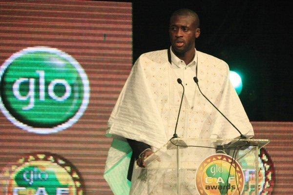 Yaya Toure na vyhlásení v nigérijskom Lagose.