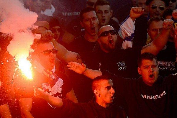 Fanúšikovia Bosny v Žiline.