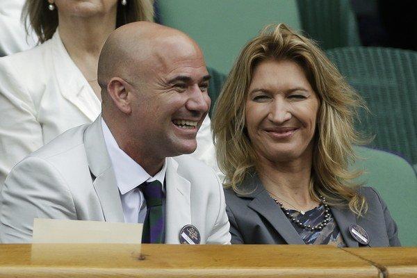 Bývalí skvelí tenisti Američan Andre Agassi a jeho manželka Nemka Steffi Grafová.