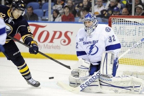 Mathieu Garon ešte v bránke Tampy Bay v NHL.