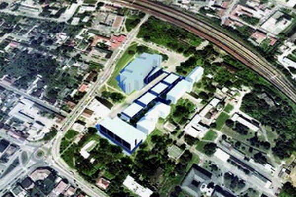 Vizualizácia nových nemocničných pavilónov.