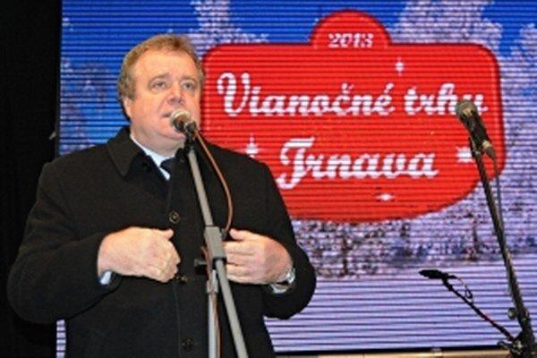 Vladimír Butko počas otvorenia Vianočných trhov 2013.