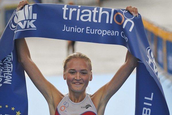 Ivana Kuriačková minulé leto vyhrala preteky Európskeho pohára ETU v maďarskom Tiszaújvárosi.