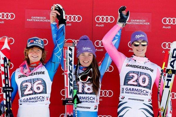 Američanka Laurenne Rossová, Slovinka Tina Mazeová a Nemka Maria Höflová-Rieschová (zľava).