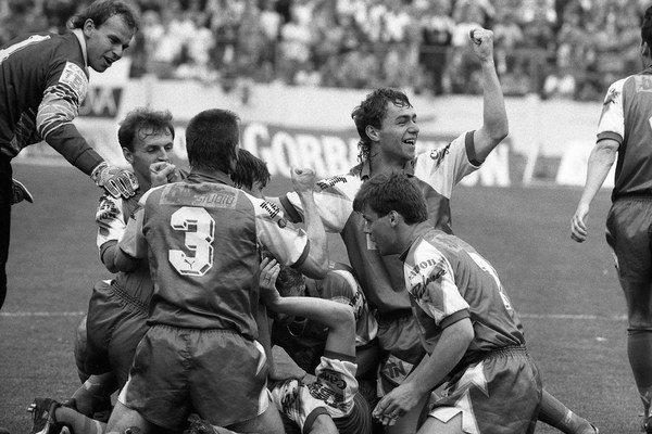 Slovan vyhral federálnu ligu v roku 1992 – ako posledný zo slovenských tímov.
