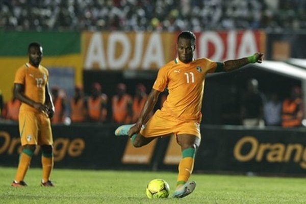 Didier Drogba v dree Pobrežia Slonoviny.
