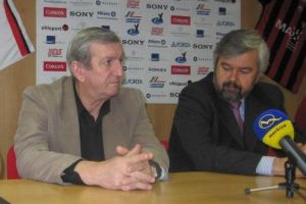 Predseda predstavenstva FC Spartak Trnava Ladislav Kuna a zástupca majiteľov FC Spartak Trnava Peter Bahula.