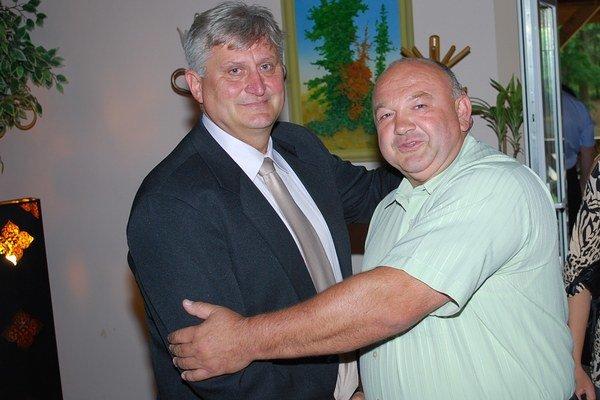 Jaroslav Zmeko (vľavo) s Petrom Hučkom.