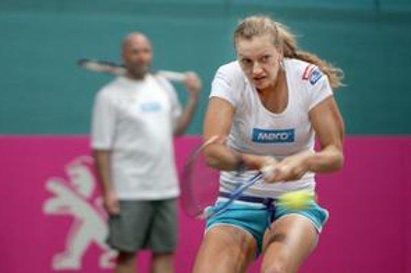 Petra Kvitová sa vrátila z turnajov v Austrálii s bilanciou 9 víťazstiev – 1 prehra. Sebavedomie jej pred zápasom Pohára federácie Slovensko – Česko nechýba.