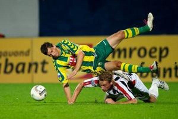 Slovenský útočník František Kubík  (hore) z ADO Den Haag je so štyrmi  gólmi zatiaľ najlepším strelcom svojho tímu.