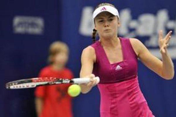 Daniela Hantuchová počas štvrťfinále v Linzi.