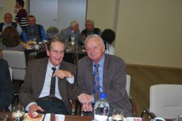 Sedemdesiatku spolu oslávili aj úspešní volejbalisti Zdeno Barták a Pavol Horňák.