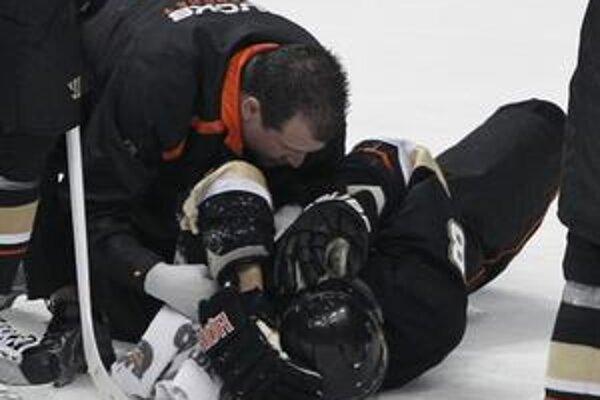 Teemu Selänne tesne po zranení.