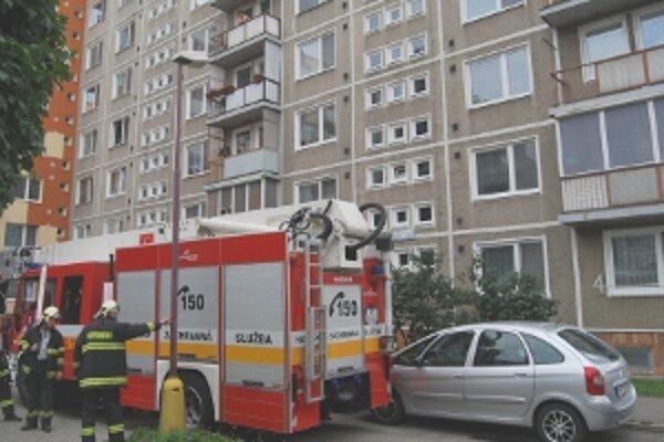 Menší požiar hasiči veľmi rýchlo uhasili.