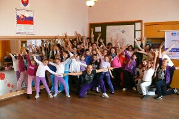 Veľký záujem mali moravské i slovenské deti o moderný tanec.