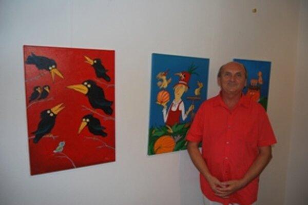 Kreslený humor a obrazy vystavuje Vladimír Pavlík v Podjavorinskom múzeu do konca septembra