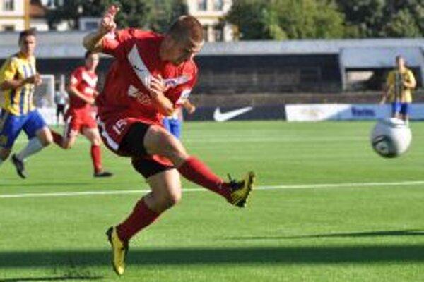 Peter Mazán bol strelcom jediného gólu v zápase s Dunajskou Stredou.