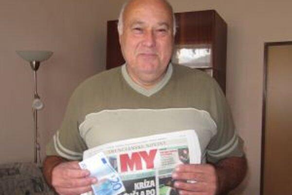Výhercom dvadsiatich eur od redakcie získal Tibor Oravec z Motešíc.