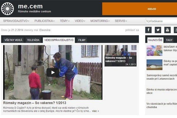 Nový dizajn webovej stránky Rómskeho mediálneho centra.