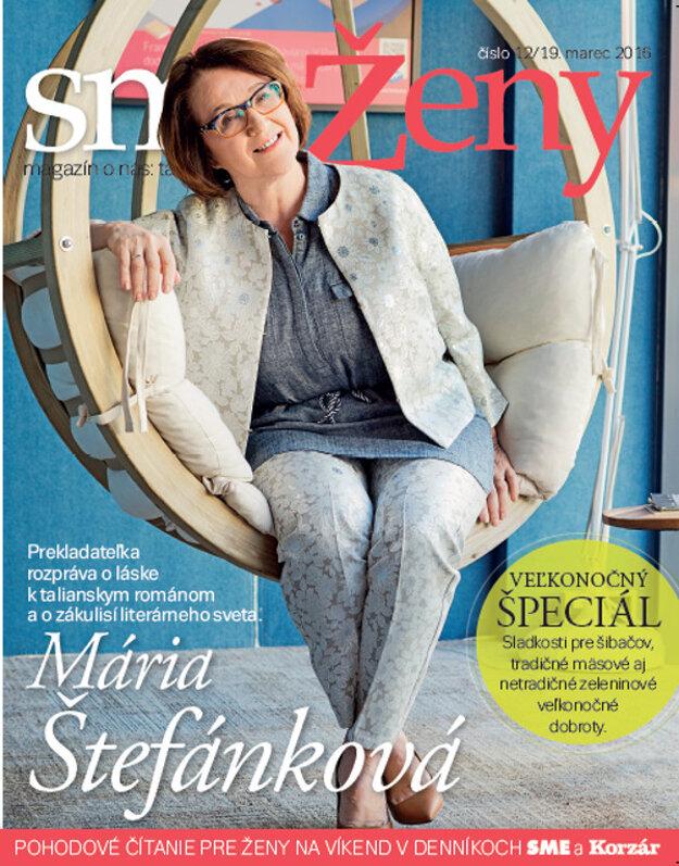 Mária Štefánková na titulke magazínu smeŽeny