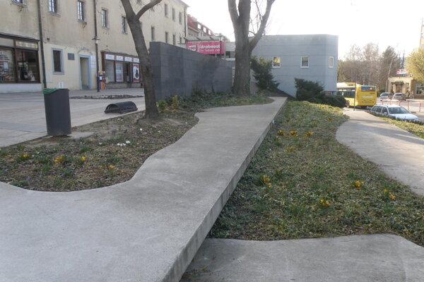 Záhony v centre Prievidze sa budú postupne vďaka kvetom meniť.