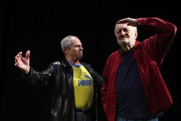 Milan Kňažko a Milan Lasica v hre Rozhovory.