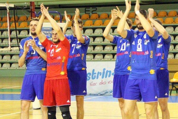 Nitrania zatiaľ v play-off vyhrali všetky zápasov, podobne ako Prešov. V červenom drese libero Martin Turis.