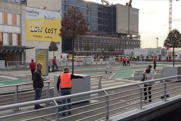 Letisko po útokoch v Bruseli.