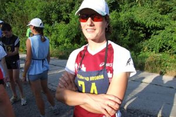 Marcela Kocholová pred štartom žiarskeho Behu SNP na Šibeničný vrch.