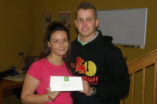 Víťazný pár: Miriama Žilová a Ján Bolfík z Nitrianskeho Pravna.
