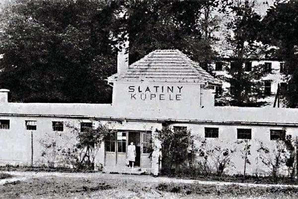 Budova kúpeľov vroku 1938.