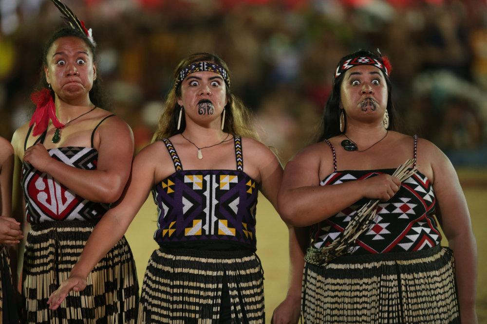 Maorské ženy z Nového Zélandu.