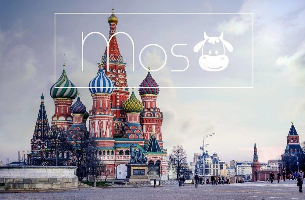 Moskva. angl. Mos+cow(=krava)
