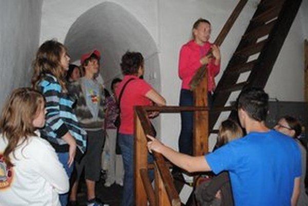 Výstup na kostolnú vežu.