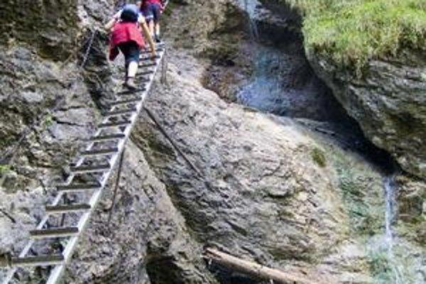Suchá Belá - Misové vodopády.