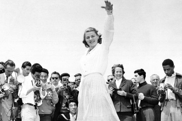 Ingrid Bergmanová v Cannes v roku 1956