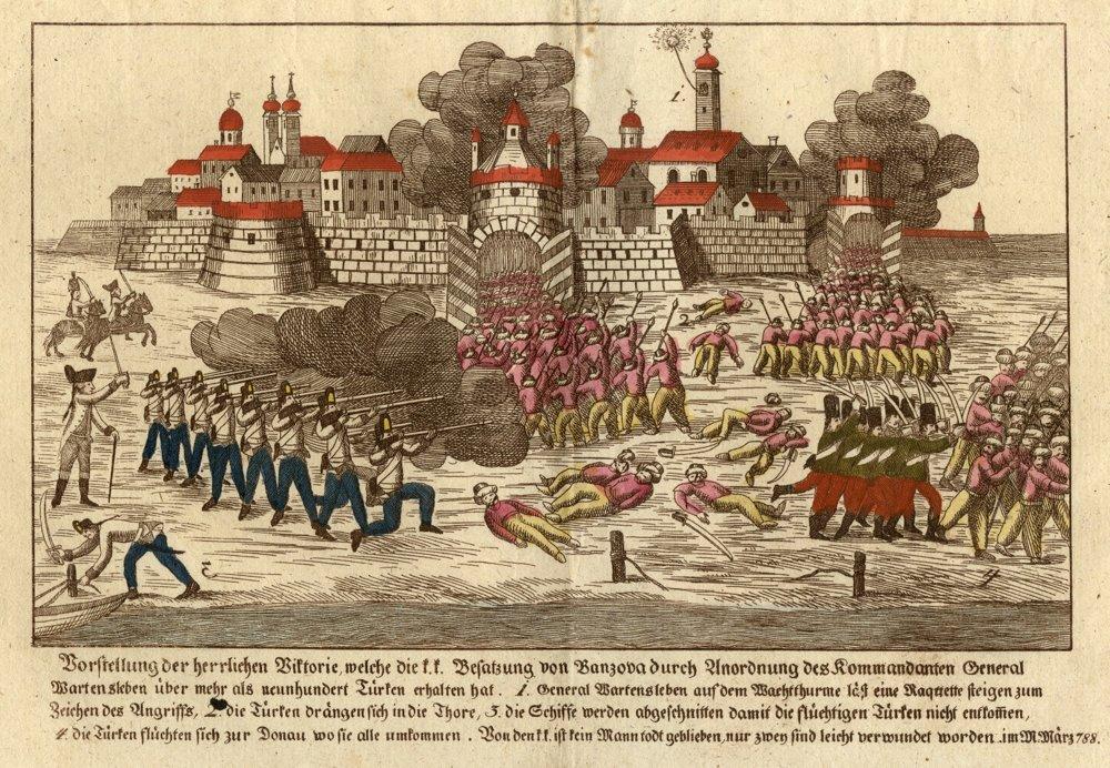 Krvané boje armády s Turkami pri Pančeve, rok 1788.