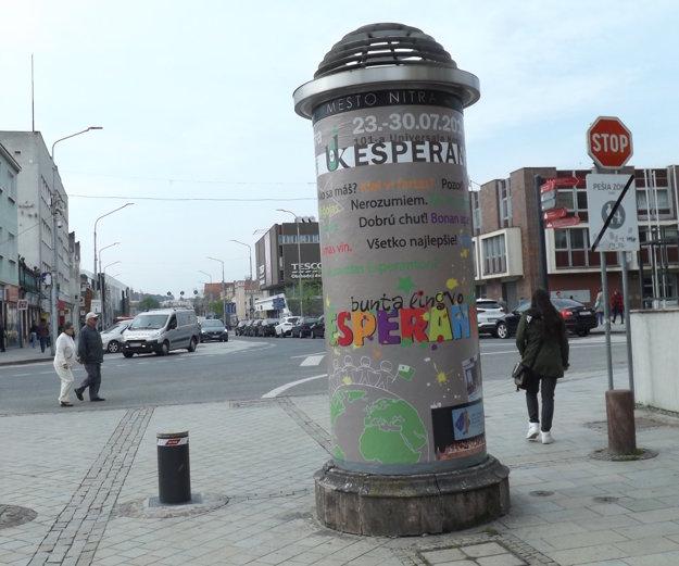 Skruže sa nachádzajú v rôznych častiach mesta, táto je na pešej zóne.