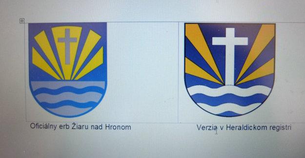 Vľavo erb, ktorý v minulosti schválili poslanci, vpravo verzia odporučená heraldikmi.