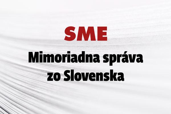 Mimoriadna správa zo Slovenska.