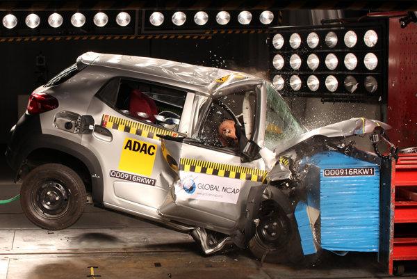 Renault Kwid pri nárazovom teste prepadol