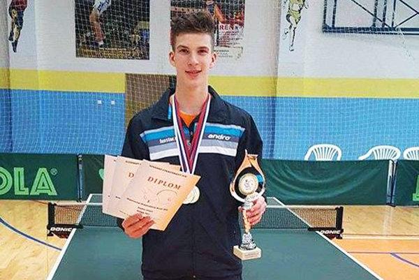 Tibor Špánik získal na šampionáte tri zlaté medaily.