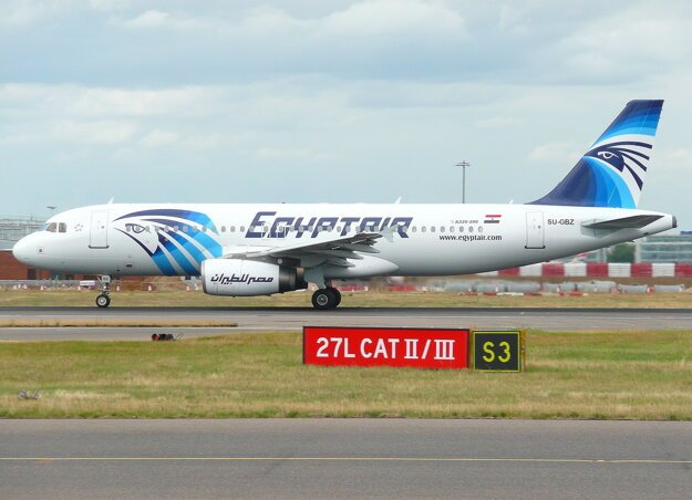 Airbus A320 spoločnosti EgyptAir.