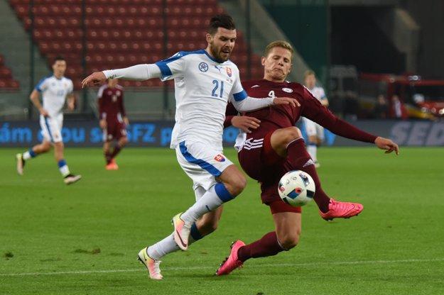 Michal Ďuriš (s číslom 21) by mal byť zdravotne v poriadku.