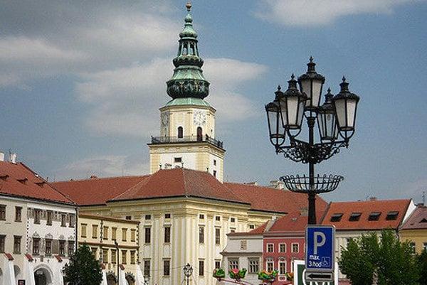 Zámok v Kroměříži je súčasťou mesta.